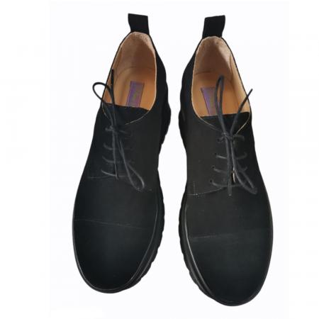 Pantofi dama din piele naturala cu platforma Black [2]