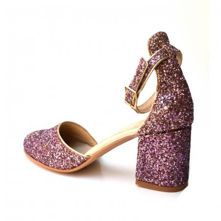 Pantofi dama de ocazie Pink Glitter