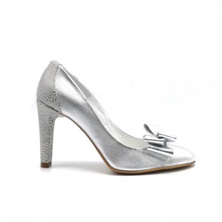 Pantofi dama stiletto Silver Bow0