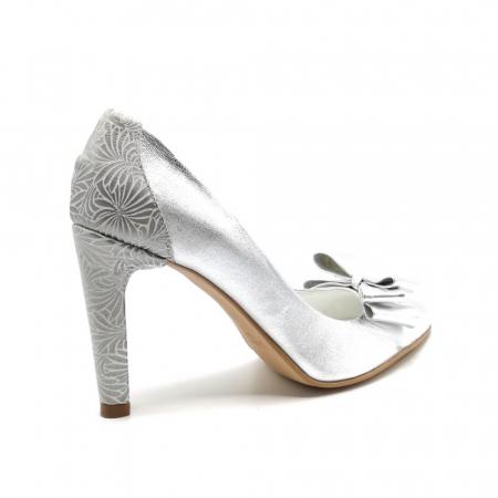 Pantofi dama stiletto Silver Bow3