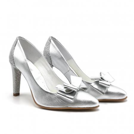 Pantofi dama stiletto Silver Bow1