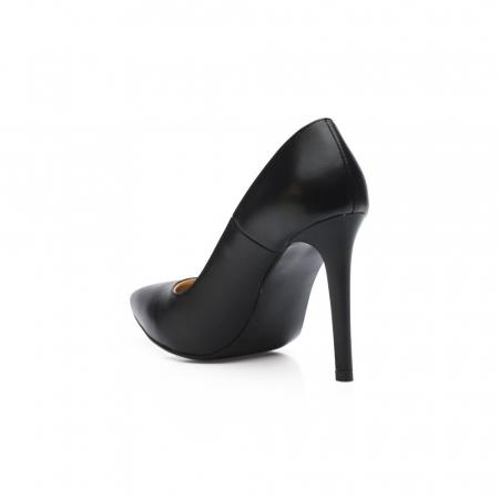Pantofi dama stiletto din piele naturala negri CA033