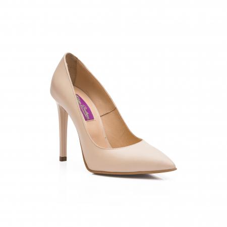 Pantofi dama stiletto din piele naturala nude CA031