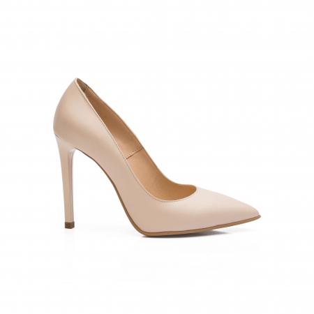 Pantofi dama stiletto din piele naturala nude CA030