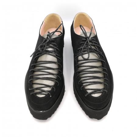 Pantofi dama tip Oxford Black Grey Laces2