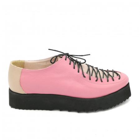 Pantofi dama tip Oxford Pink Laces0