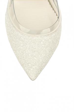 Pantofi de mireasa Mihai Albu White Glitter Pumps 23