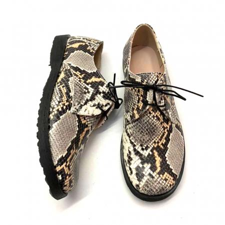 Pantofi din piele naturala Oxford Pax Snake, 371