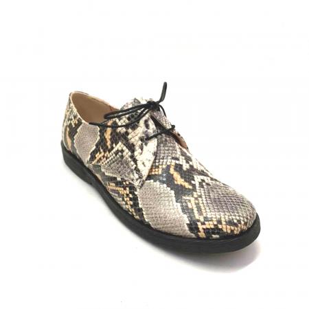 Pantofi din piele naturala Oxford Pax Snake2