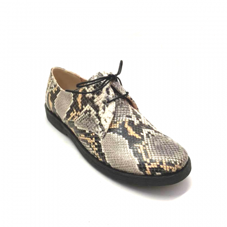 Pantofi din piele naturala Oxford Pax Snake, 372