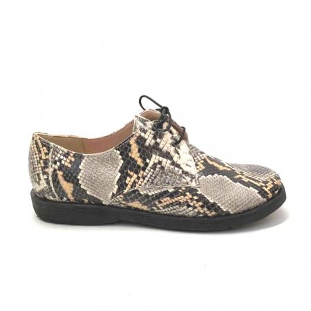 Pantofi din piele naturala Oxford Pax Snake, 370
