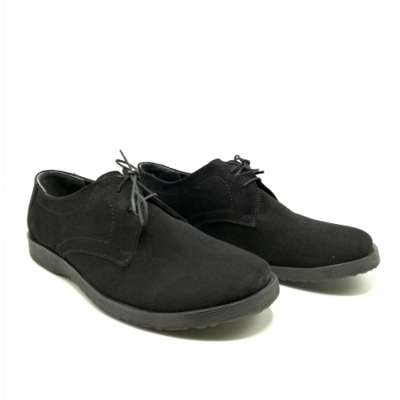 Pantofi din piele intoarsa Pax negri1