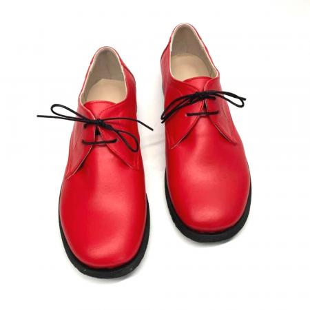 Pantofi din piele naturala Pax Rosu2