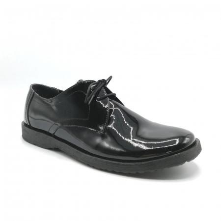 Pantofi din piele lacuita Pax negri1