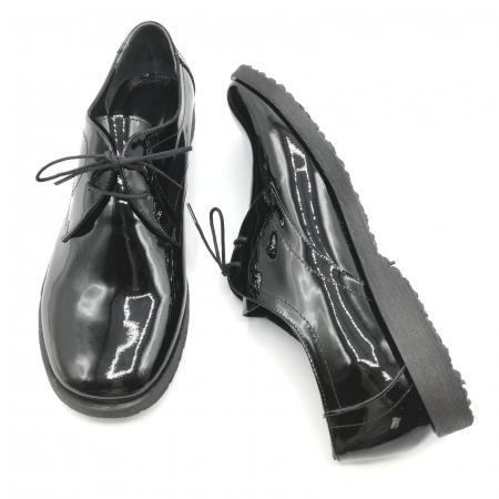 Pantofi din piele lacuita Pax negri6