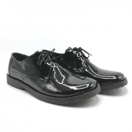 Pantofi din piele lacuita Pax negri3
