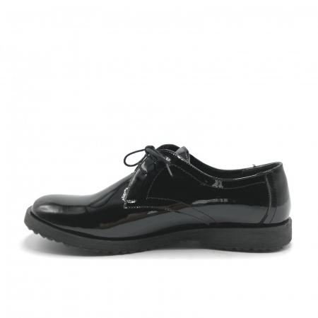 Pantofi din piele lacuita Pax negri2
