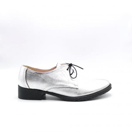 Pantofi din piele naturala argintii Tina, 390