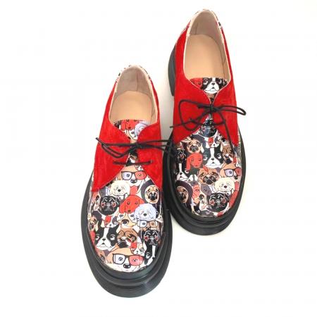 Pantofi din piele cu imprimeu multicolor Red Dogs Clara [0]