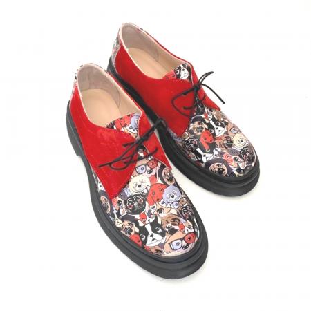 Pantofi din piele cu imprimeu multicolor Red Dogs Clara [3]
