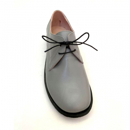 Pantofi din piele naturala Oxford Pax Gri0