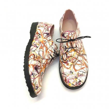 Pantofi din piele naturala Oxford Pax Multicolor, 371