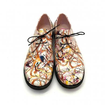 Pantofi din piele naturala Oxford Pax Multicolor, 373