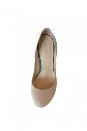 Pantofi din piele naturala Romanian Motifs Nude1