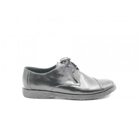 Pantofi din piele Oxford Kika Black, 390