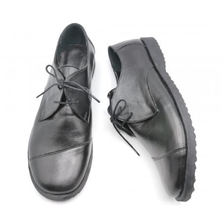 Pantofi din piele Oxford Kika Black, 392