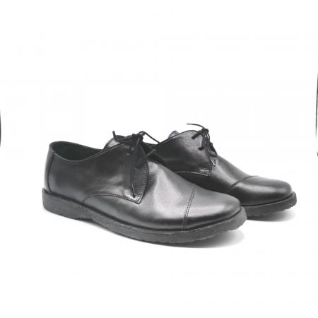 Pantofi din piele Oxford Kika Black, 391