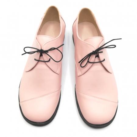 Pantofi din piele Oxford Kika Nude Rose2
