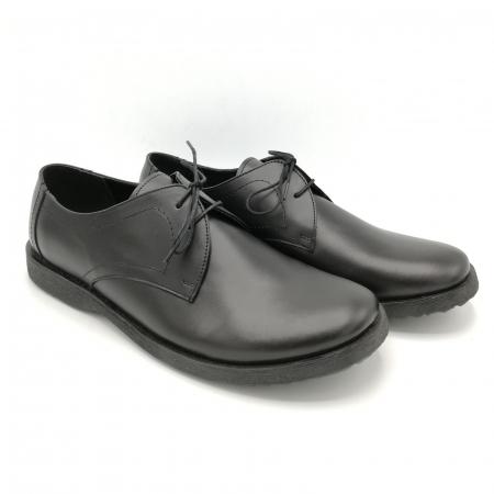 Pantofi din piele Oxford Pax Black2