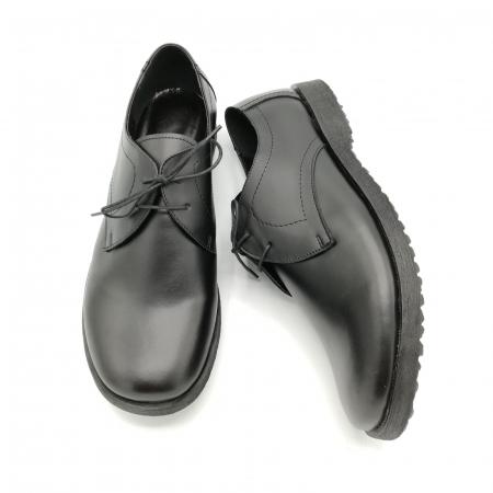 Pantofi din piele Oxford Pax Black3