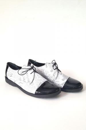Pantofi din piele Oxford Pam Paper3