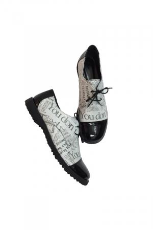 Pantofi din piele Oxford Pam Paper1