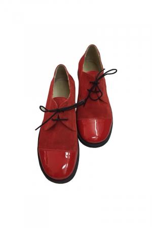 Pantofi din piele Oxford Pam Red2