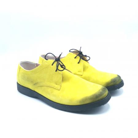 Pantofi din piele Oxford Pax Yellow Vintage, 401