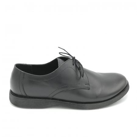 Pantofi din piele Oxford Pax Black, 400