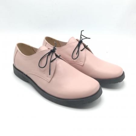 Pantofi din piele Oxford Pax Nude1
