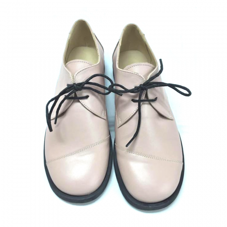 Pantofi din piele Oxford Kika Nude2