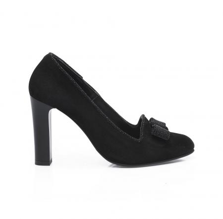 Pantofi eleganti negri accesorizati cu funda din piele CA24 [1]