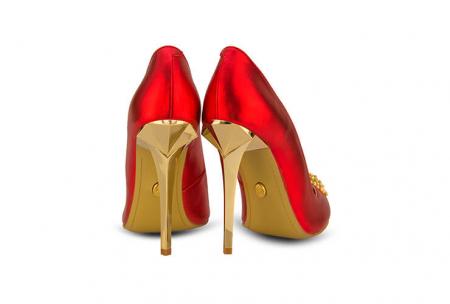 Pantofi Mihai Albu din piele metalizata Ruby Stealth Crystal2