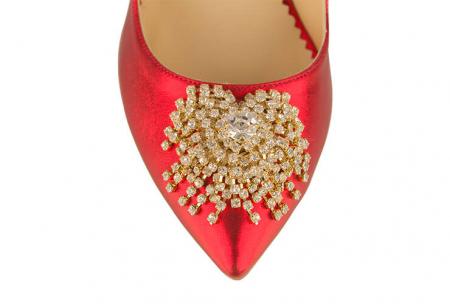 Pantofi Mihai Albu din piele metalizata Ruby Stealth Crystal3