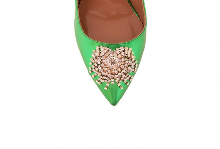 Pantofi Mihai Albu din piele metalizata Jade Stealth Crystal3