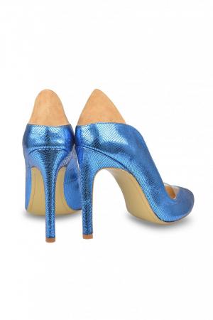 Pantofi Mihai Albu din piele metalizata Loob Pumps2