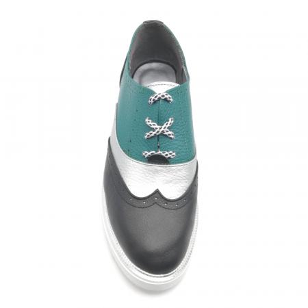 Pantofi in trei culori din piele naturala cu talpa joasa3