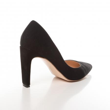 Pantofi stiletto negri din piele intoarsa Briquette [2]