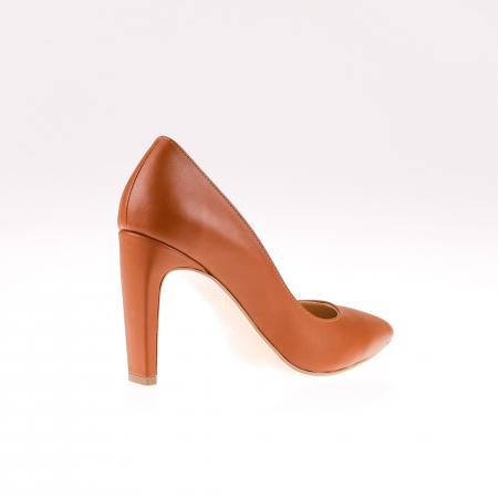 Pantofi stiletto din piele naturala Brown Box2
