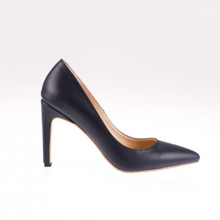 Pantofi stiletto din piele naturala Black Box0
